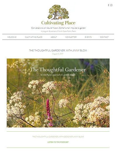 Cultivating Place Podcast - August 2017