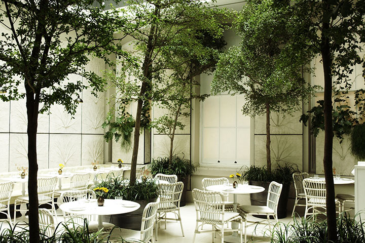 Spring Restaurant, Interior Courtyard